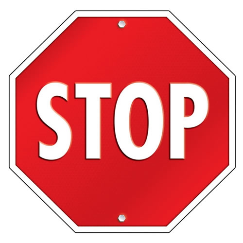 Two-Sided Stop Sign