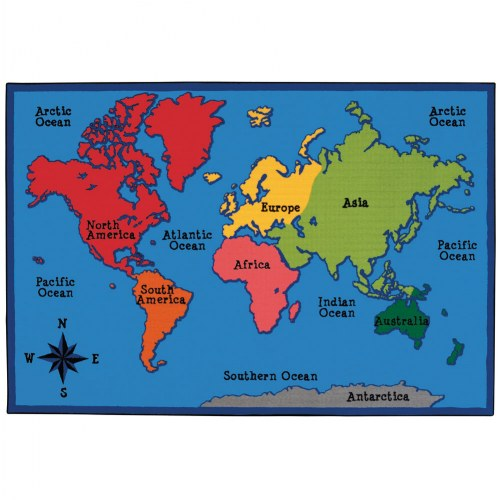 World Map KID$ Value PLUS Rugs