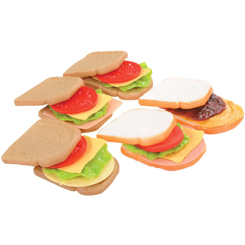 Alternate Image #1 of Dramatic Play Sandwich Making Set with White and Wheat Bread
