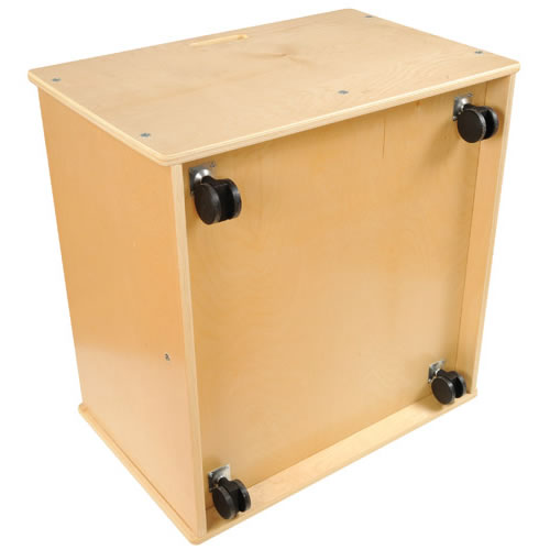 Alternate Image #1 of 4-Sided Block Storage Box on Wheels