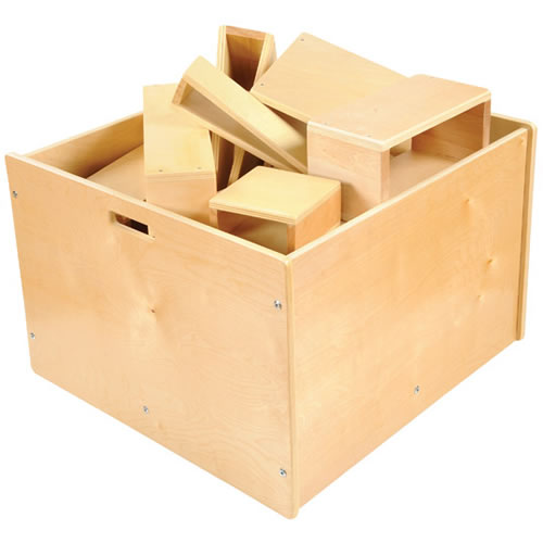 4-Sided Block Storage Box on Wheels