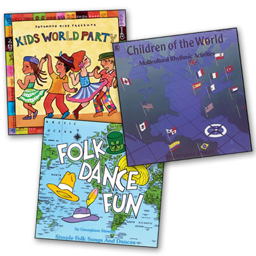 Across The World Dance Party CDs (Set of 3)