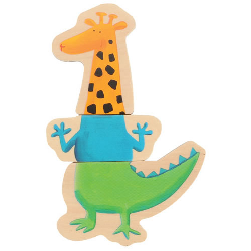 Alternate Image #1 of Magnetic Crazy Animal Puzzles - Set of 8
