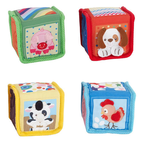 Alternate Image #1 of Soft Colorful Baby Blocks