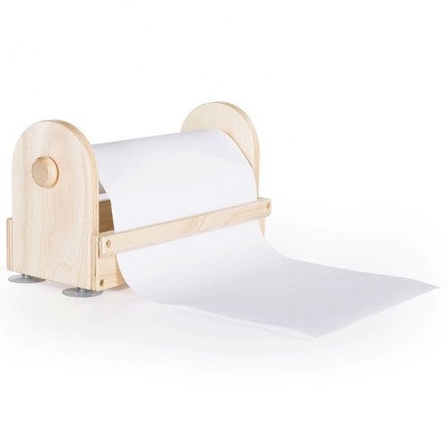 Wooden Tabletop Paper Center includes Paper Roll - Great for Every Craft Space