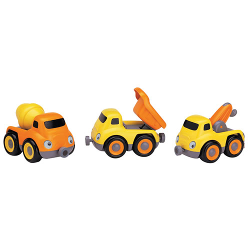 Preschool Construction Truck Tailgate Trio - Set of 3