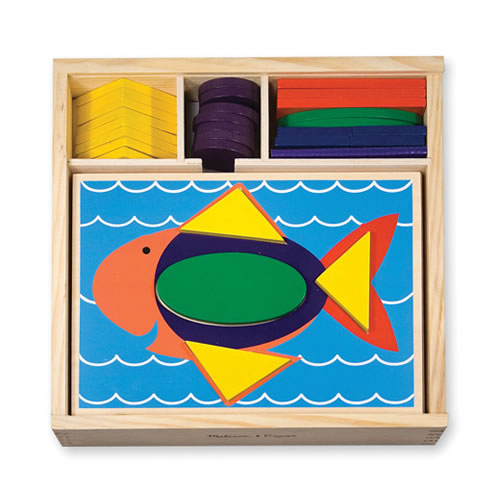 Alternate Image #2 of Beginner Colorful Pattern Blocks With Recessed Design Templates