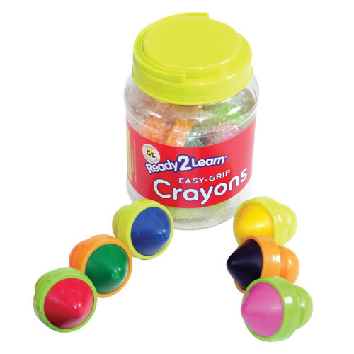 Easy-Grip Crayons - Set of 6