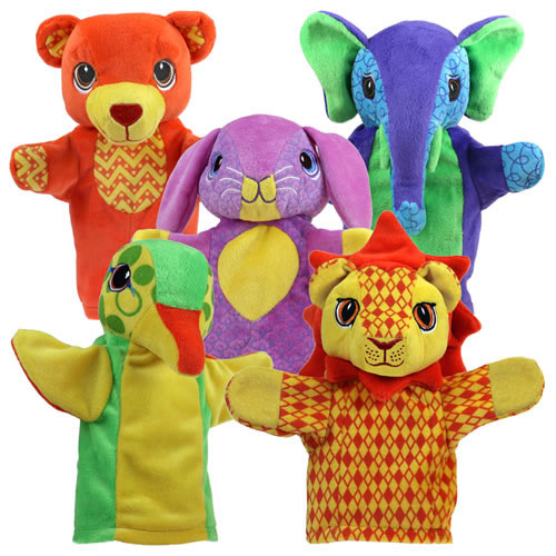 Friendly Animal Puppet Set - Set of 5