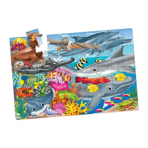 creatures of the sea jumbo 50 piece jigsaw puzzle