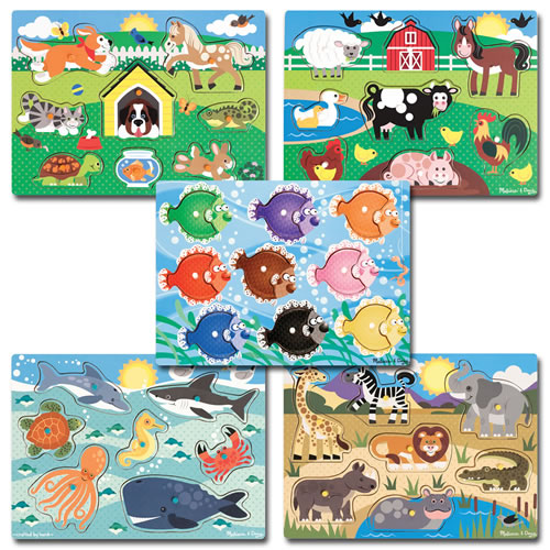 Peg Puzzles Classroom Set - Set of 5