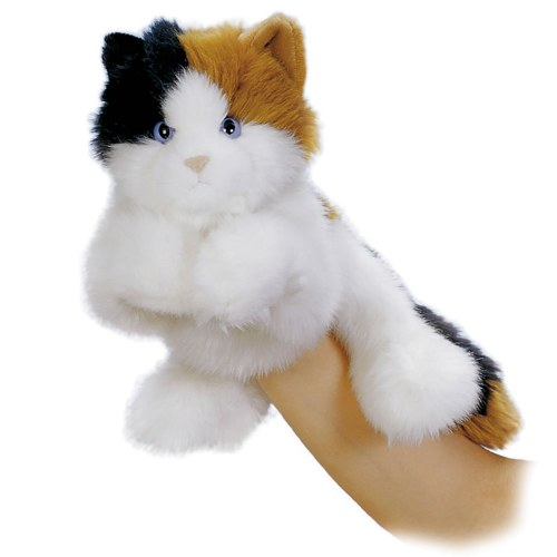 Calico Cat Hand Puppet
