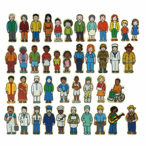Wooden Village People - 42 Pieces