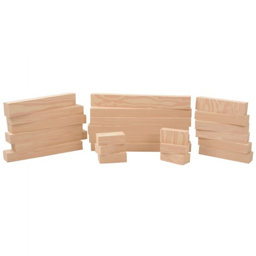 "Foam ""Wooden"" Lumber - 24 Pieces"