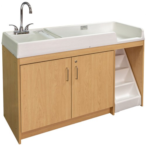 Left Handed Changing Table with Sink