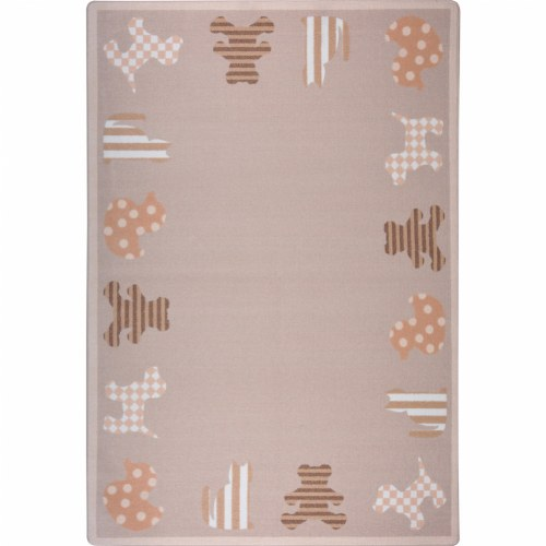 Frisky Friends Neutral Colors Rug