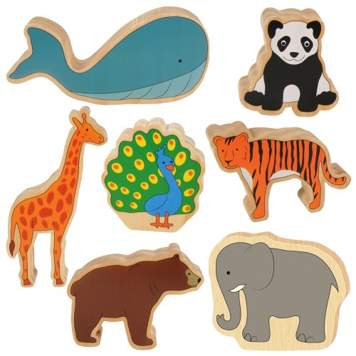 Large Wooden Play Animals - Set of 7