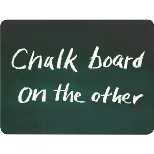 Alternate Image #2 of Double-Sided Chalkboard and Dry-Erase Board