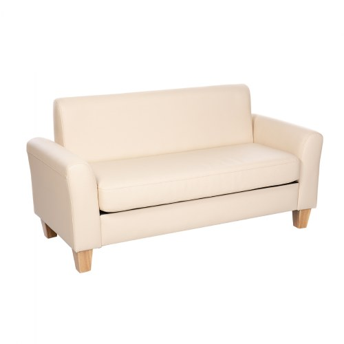 Sense of Place Tan Vinyl Couch