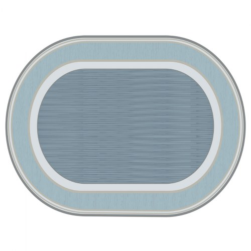 Sense of Place Highland and Lowland Stripe Oval Carpets - 6' X 9'