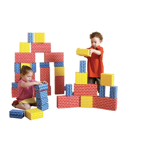 Brick Block Large Building Set - 44 Pieces