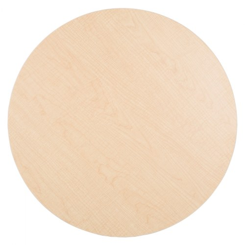 "Alternate Image #6 of 30"" Laminate Adjustable Round Table - Seats 4"