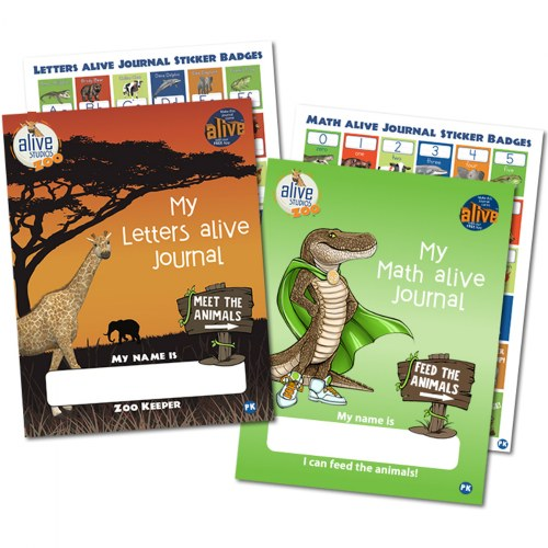 Pre-K and Kindergarten Letters alive® and Math alive® Student Journals - Set of 2