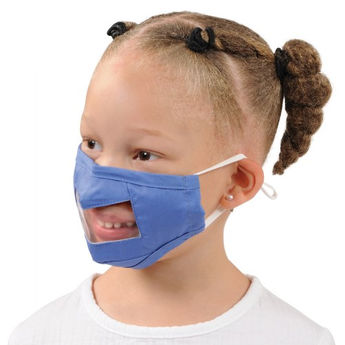 Alternate Image #3 of Clear Child Face Masks