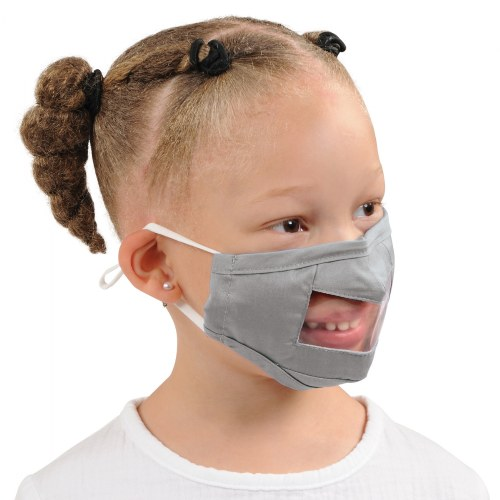 Alternate Image #8 of Clear Child Face Masks