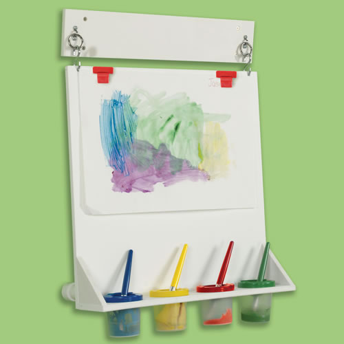 Space saver wall mounted paint easel for What kind of paint to use on kitchen cabinets for what is mounted wall art