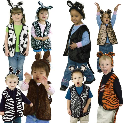 Dress Up Pretend Play Images On: AniMates™ Reversible Vests