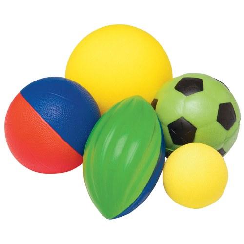 Foam Ball Amp Mesh Bag Set 5 Balls