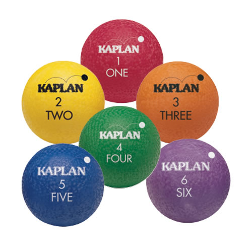Kaplan Colored Playground Balls - Set of 6