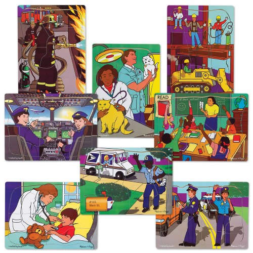 Multi-Ethnic Career Puzzles - Set of 8