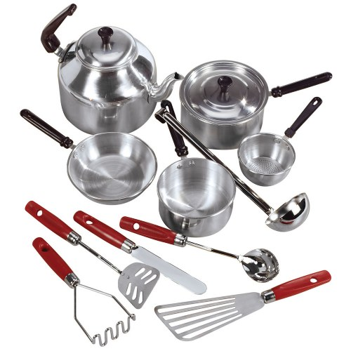 Aluminum cooking set and utensils for Toko aluminium kitchen set