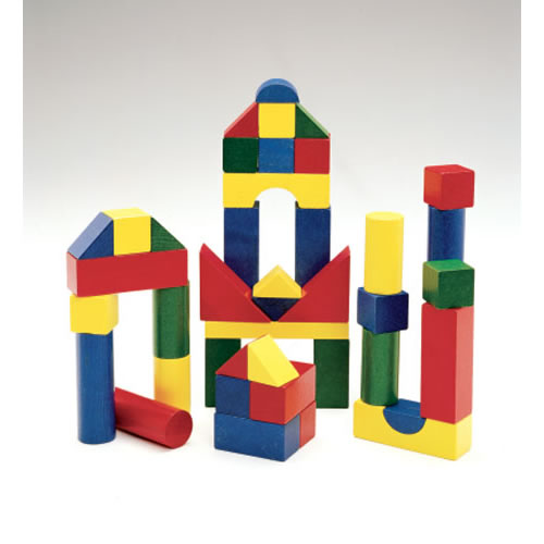 wooden color blocks 200 pieces