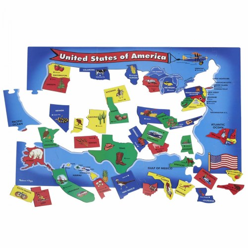 Alternate Image #1 of World & US Floor Puzzles
