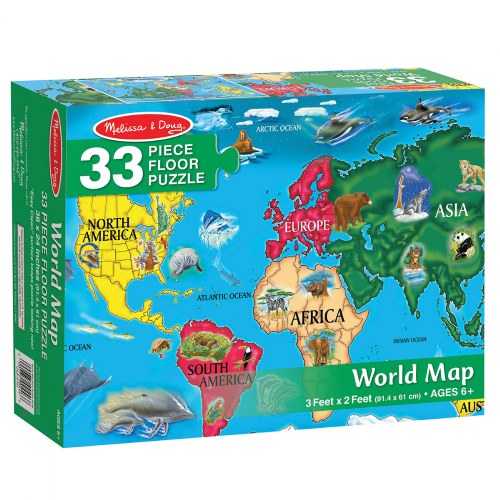 Alternate Image #7 of World & US Floor Puzzles