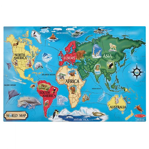 Alternate Image #10 of World & US Floor Puzzles