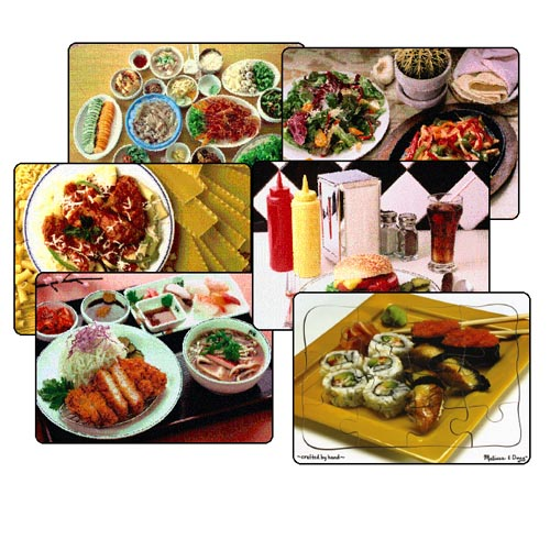 Multi-Ethnic Food Puzzles - Set of 6