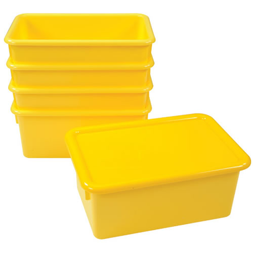 Storage Bins with Lids - Set of 5
