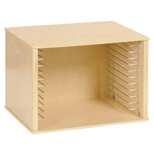 Single wood puzzle case for Kaplan floor planner