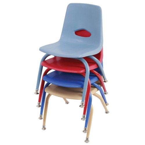 Nature Color Tapered Leg Stackable Chairs