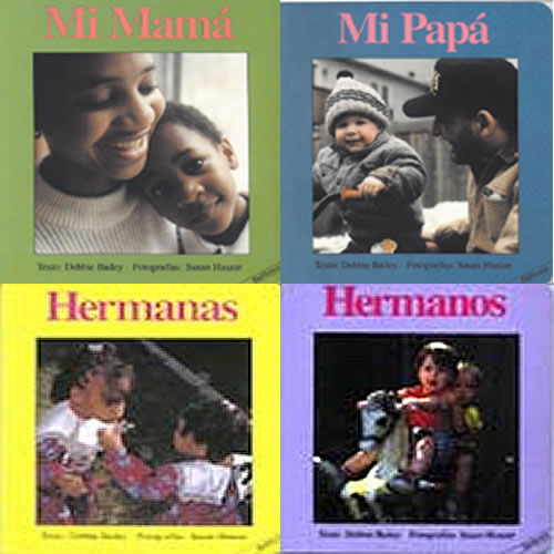 Spanish Family Board Books - Set of 4