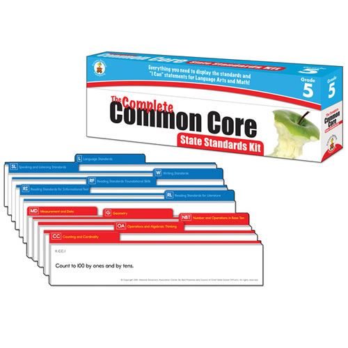 The Complete Common Core State Standards Kit Pocket Chart Cards - Grade 5