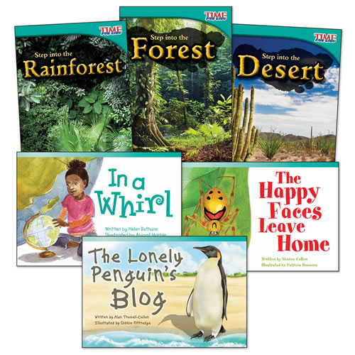 Step into Biomes Guided Reading Level K Books - Set of 6