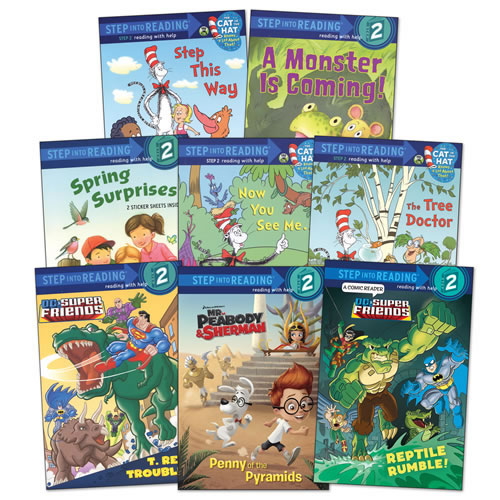 Step into reading book set level 2 set of 8
