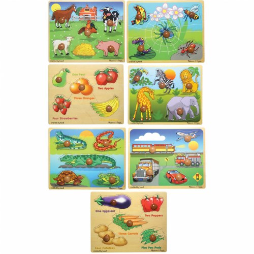 Kaplan Large Knob Puzzles  - Set of 7