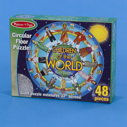 Alternate Image #1 of Children of the World 48 Piece Floor Puzzle