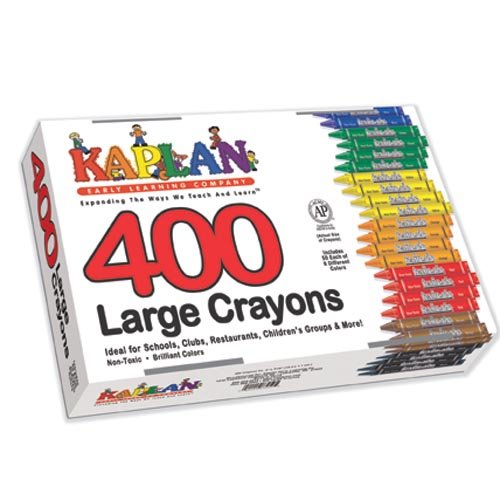 Large crayons class pack 400 per box for Kaplan floor planner